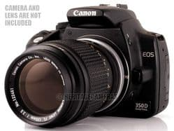Adapter for some Canon Breech Lock FD Lenses on EOS Film and Digital SLR Cameras, Macro Only (no glass)
